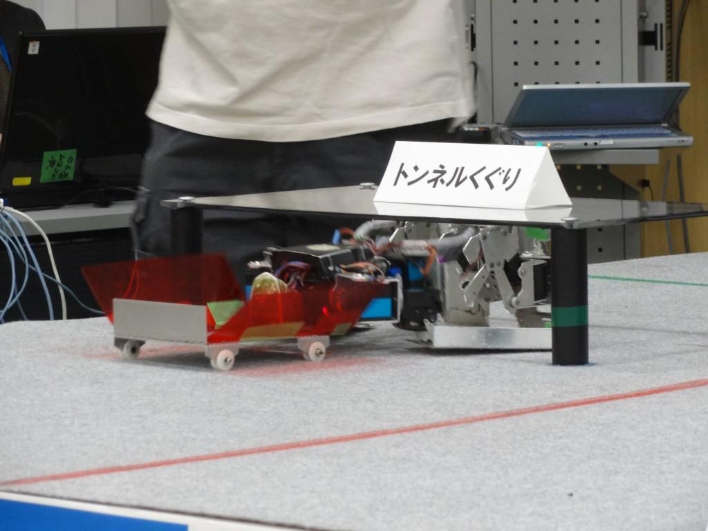 画像7:台車を用いて台くぐりを行うトランザー